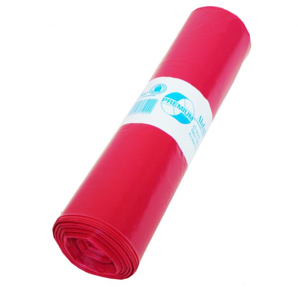 Müllbeutel 575x1000, 70l, Typ 80, rot, 25 Stück/Rolle