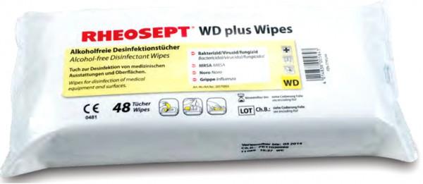 Desinfektionstücher alkoholfrei WD plus Wipes