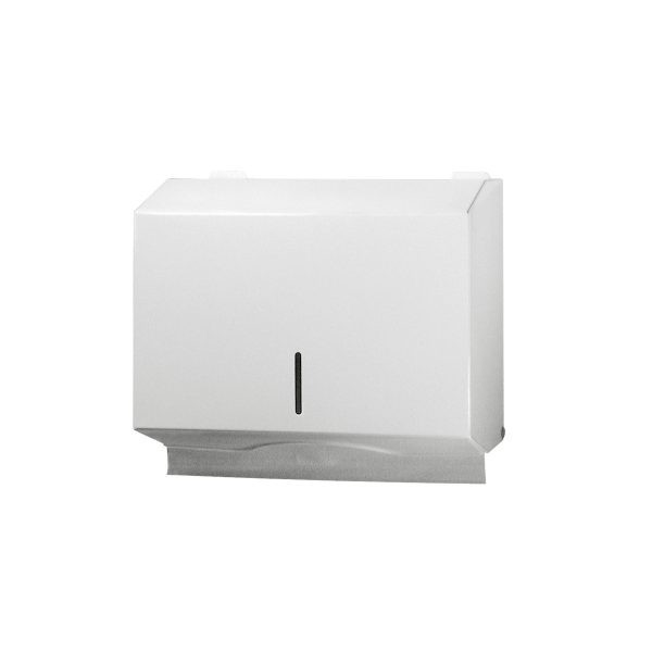 Papierhandtuchspender Metall weiß