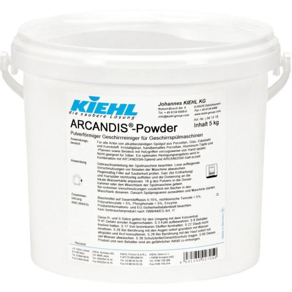 Arcandis-Powder, Pulverförmiger Geschirrreiniger für Geschirrspülmaschinen, 5 kg