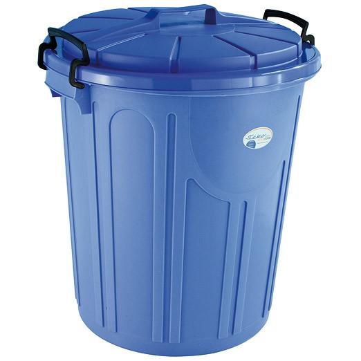 Uni-Tonne Mülltonne 23 Liter rund, blau & silber