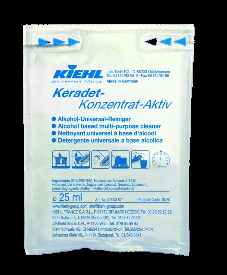 Keradet-Konzentrat Aktiv, Alkohol-Universal-Reiniger, 240 x 25 ml Beutel, 1 l und 10 l