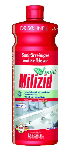 Milizid Mint, Sanitärreiniger und Kalklöser, 1 l und 10 l