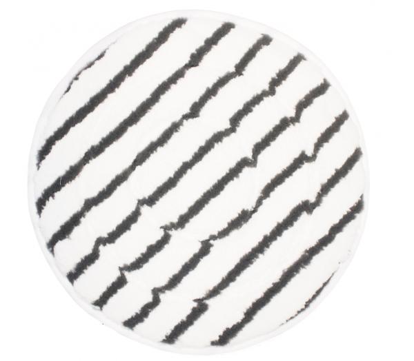 """Microfaser Rundpads Plus 6"""" -21"""" - grau gestreift, mit Einfassband"""