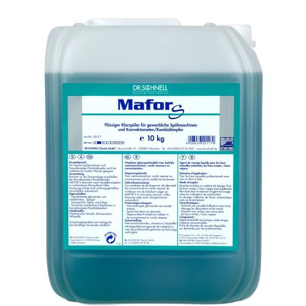 Mafor Klarspüler S, Flüssiger Klarspüler für gewerbliche Spülmaschinen, 10 kg