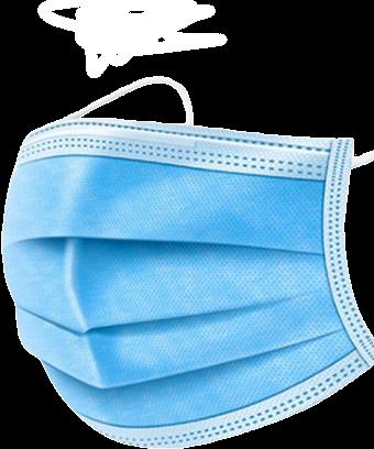 Mundschutz 3 Lagig Blau