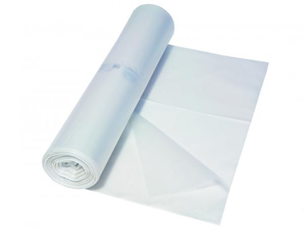 Müllbeutel 575x1000, 70 l, transparent, Typ 80, 1 A, 25 Stück/Rolle