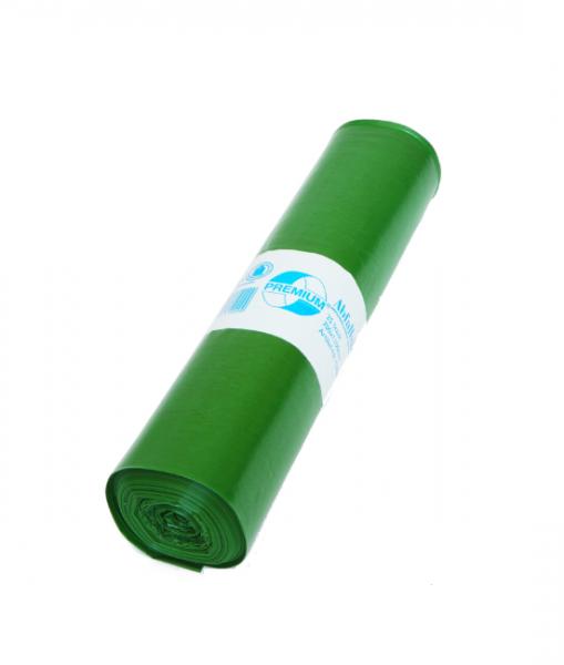 Müllbeutel 25/Rolle, 70L, 575 mm x 1000 mm, Typ 60, grün