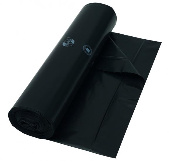 Müllbeutel 600x700, 60 l, schwarz, Typ 50, 25 Stück/Rolle