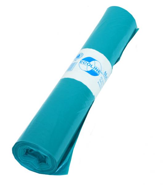 Müllbeutel 900x1100, 140l, Typ 60, blau, 25 Stück/Rolle