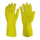 Gummihandschuh gelb, in vier verschiedenen Größen