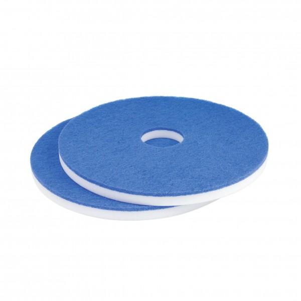 """Melamin Superpad 432mm 17""""-21"""" weiß 18mm mit blauem Pad 6mm"""
