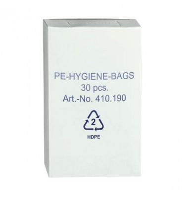 Hygienebeutel HDPE, weiß 30 Stk./Nachfüllbox