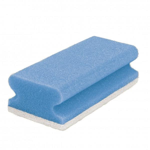 Schwammpad, blau / weiß (10)