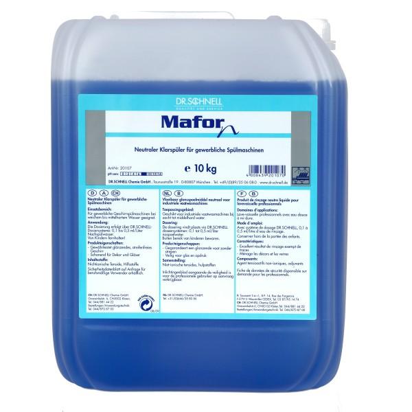 Mafor-Klarspüler N, Neutraler Klarspüler für gewerbliche Spülmaschinen, 10 kg und 20 kg