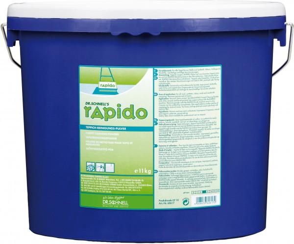 Rapido Teppichreinigungspulver, 10 x 1 kg und 11 kg