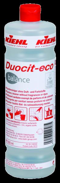 Duocit-eco balance, Sanitärreiniger ohne Duft- und Farbstoffe, 1 l oder 10 l