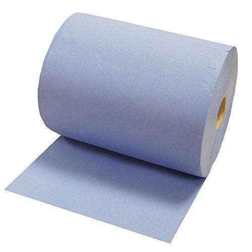 Industrie-Putztuchrolle, blau, 3-lagig, 38 x 36 cm, 1000 Blatt