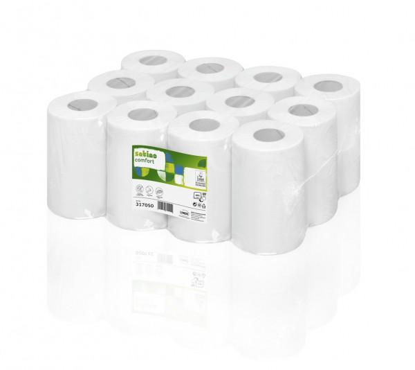 Mini-Papierhandtuchrolle 120m 1-lagig (12 Rollen)