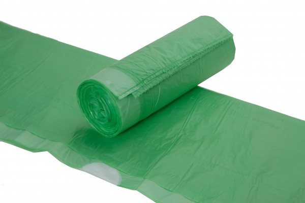 Müllbeutel 70 x 55 cm, 60 l mit Zugband grün, 20/Rolle
