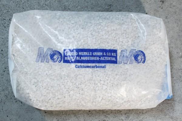 Marmorkies weiß, verschiedene Körnungen, 25 kg Sack
