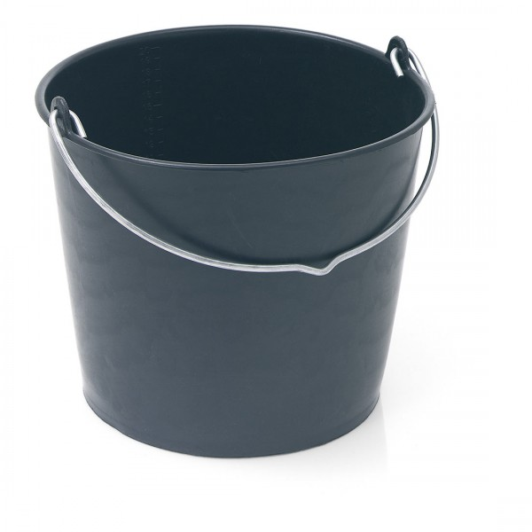 Baueimer 12 l, schwarz