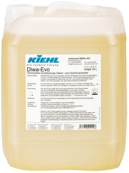 Diwa-Evo, Gläser- und Geschirrspülmittel, 10 l und 20 l
