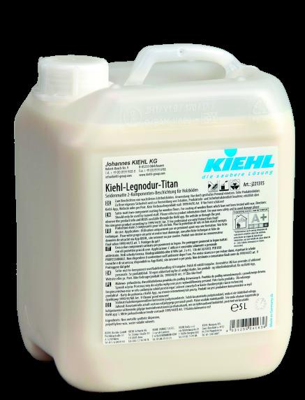 Kiehl-Legnodur-Titan, Seidenmatte 2-Komponenten-Beschichtung für Holzböden, 5 L und 100 ml
