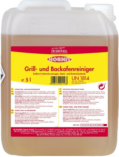 Hornit Grill- und Backofenreiniger, 5 l