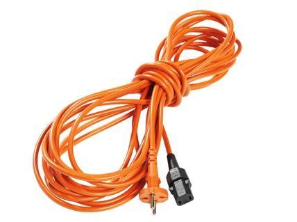 Netzkabel steckbar Orange 15 m