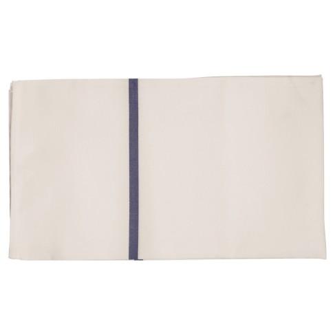 Wäschesack, weiss / farbige Streifen, blau