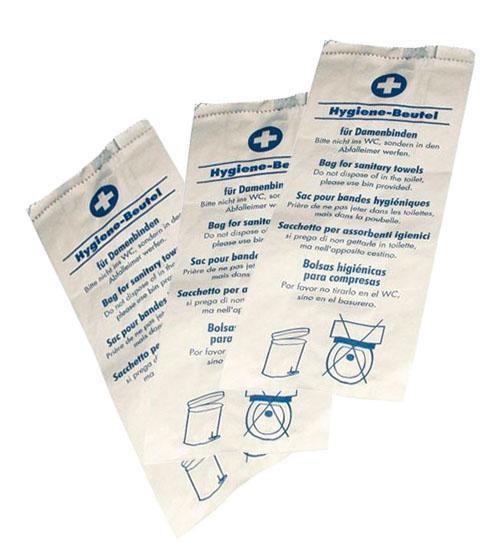 Hygienebeutel Papier, weiß 1000 Stück