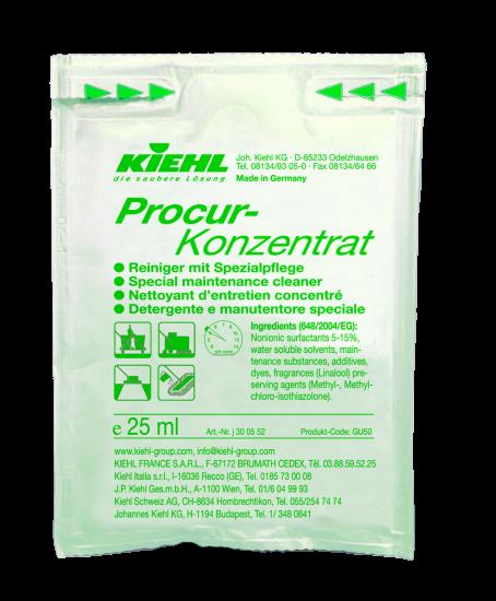 Procur-Konzentrat, Reiniger mit Spezialpflege, 240 x 25 ml Beutel, 1 l oder 10 l