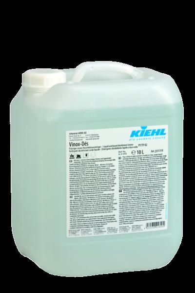 Vinox-Dés, Flüssiger saurer Desinfektionsreiniger für Großküchen und Lebensmittelbetriebe, 10 l