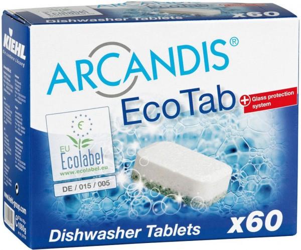 Arcandis-EcoTab, Geschirrspültabs, phosphatfrei, 60 Stk im Karton