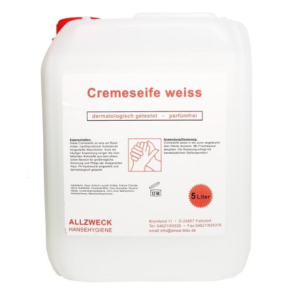Allzweck Cremeseife weiß und rosa, neutrale Handwaschseife, 5 l