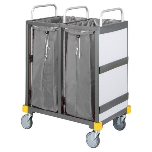 Equipe Wäschetransportwagen 2 x 120 l