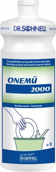 Onemü 2000, Handspülmittel und neutraler Universalreiniger, 1 l und 10 l