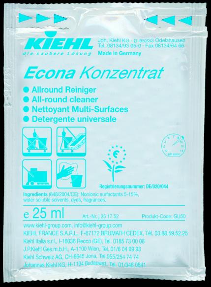 Econa-Konzentrat, Allround-Reiniger, 240 x 25 ml Beutel, 1 l oder 10 l
