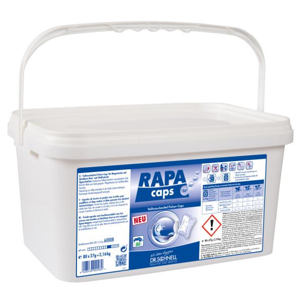 RAPA CAPS Vollwaschmittel Pulver-Caps 80 Stück im Eimer