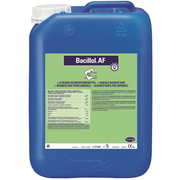 Bacillol AF Schnell Desinfektionsmittel 5 Liter