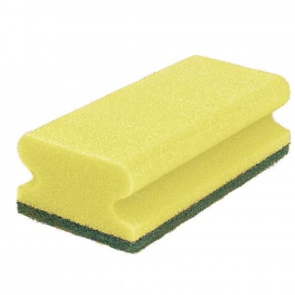 Schwammpad, gelb / grün (10)